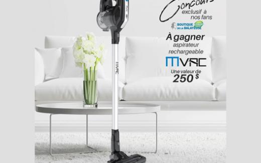 Un aspirateur rechargeable Mvac