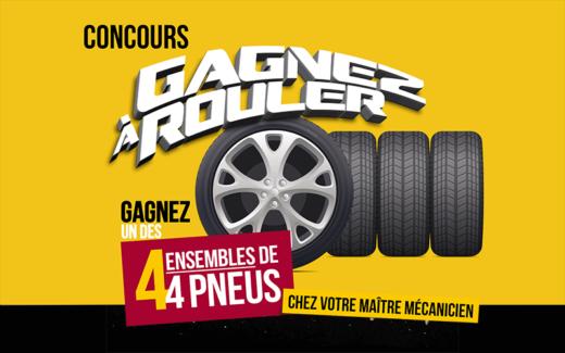 4 ensembles de pneus de votre choix