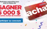 5000$ remis sous forme de cartes Achat de Costco