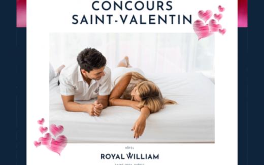 Un forfait St-Valentin au Royal William Hôtel
