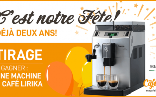 Une machine à café Lirika Plus Saeco