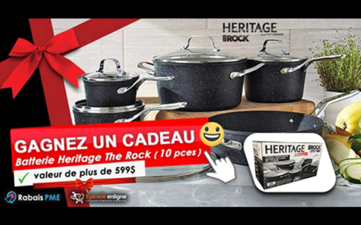 Une batterie de cuisine Heritage The Rock
