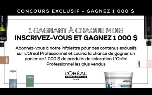 1000 $ de produits de coloration L'Oréal Professionnel