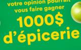 1000$ d'épicerie