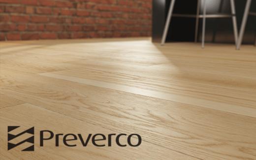 Un plancher en bois franc Preverco