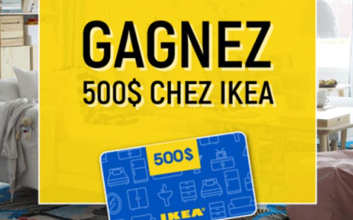 Une carte cadeau IKEA de 500$