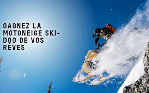 Une motoneige Ski-Doo accessoirisée