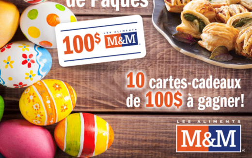 10 cartes cadeaux Les Aliments M&M de 100$