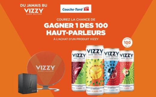 100 haut-parleurs Vizzy de 112 $ chacun