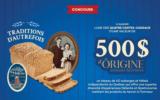 4 cartes-cadeaux d'Ôrigine artisans hôteliers de 500 $