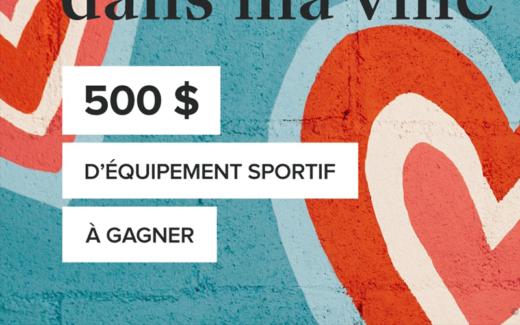 500$ d'équipement sportif