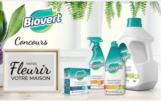 9 paniers de produits Biovert