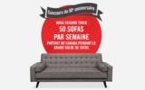 Gagnez 50 sofas par semaine