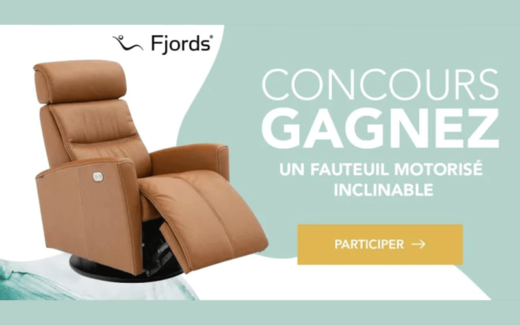 Un Fauteuil motorisé inclinable Fjords de 3400 $