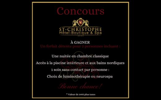 Un forfait au St-Christophe Hôtel-Boutique & Spa