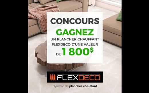 Un plancher chauffant Flexdeco de 1800 $