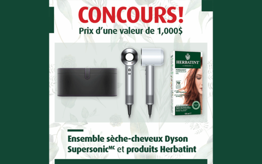 Un sèche-cheveux Dyson + Produits Herbatint