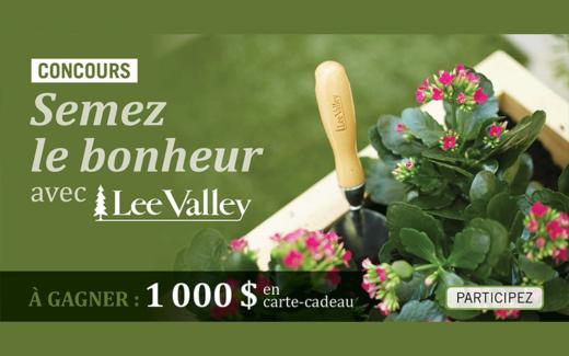 Une carte-cadeau Lee Valley de 1000 $