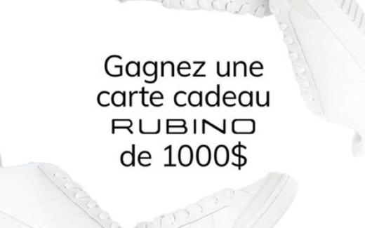 Une carte cadeau Rubino de 1000 $