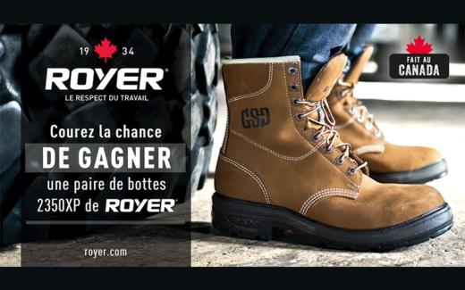 Une paire de bottes 2350XP ROYER