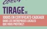 10 certificats-cadeaux de 100 $