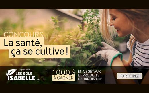 1000 $ en végétaux et produits de jardinage