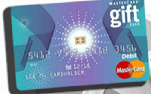 Carte cadeau Mastercard de 50$