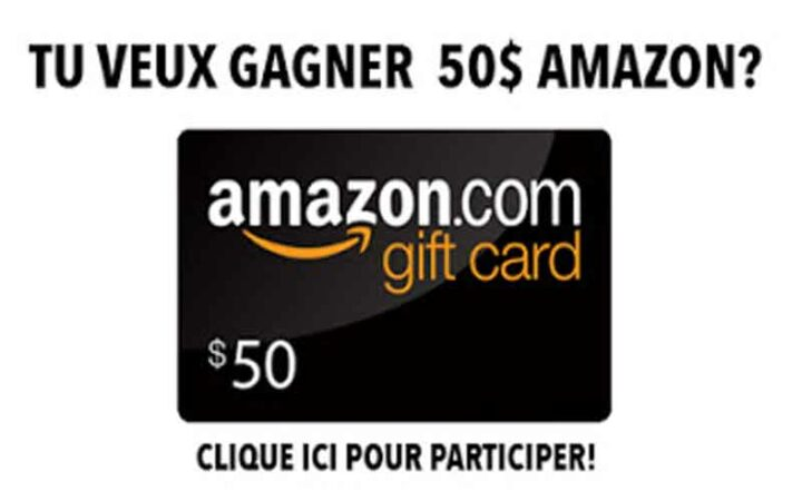 Carte cadeau Amazon de 50$