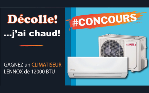 Un climatiseur Lennox 12 000 BTU avec l'installation