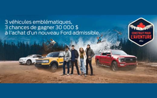 Un nouveau véhicule Ford de 30000 $