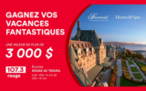 Un séjour au Fairmont Le Manoir Richelieu (3000 $)