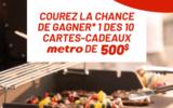 10 cartes-cadeau Metro de 500 $