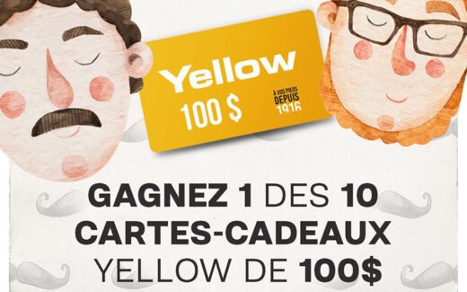 10 cartes-cadeaux Yellow de 100 $ chacune