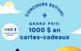 1000 $ à dépenser dans des commerces québécois