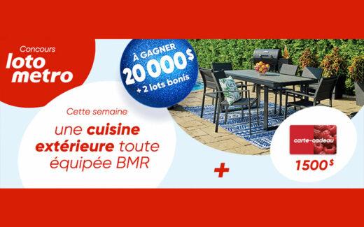20 000$ – Séjour dans un hôtel Fairmont – Cuisine extérieure