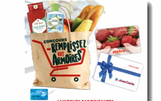 5000 $ en cartes cadeaux Metro et Jean Coutu
