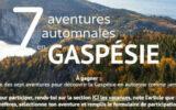 7 escapades en Gaspésie (Valeur totale de 10231 $)
