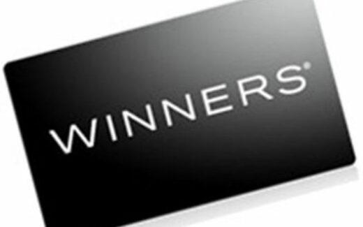 Une carte cadeau Winners d'une valeur de 100$