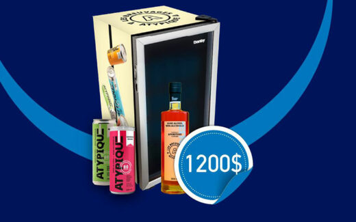 Un Mini-frigo ATYPIQUE remplis de produits