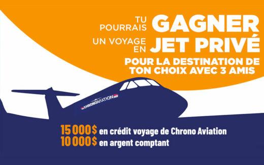 Un crédit voyage de 15 000 $ + 10 000 $ en argent