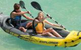 un kayak Intex Explorer + une glacière IGLOO
