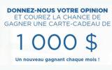 Une carte cadeau Jean Coutu de 1000 $