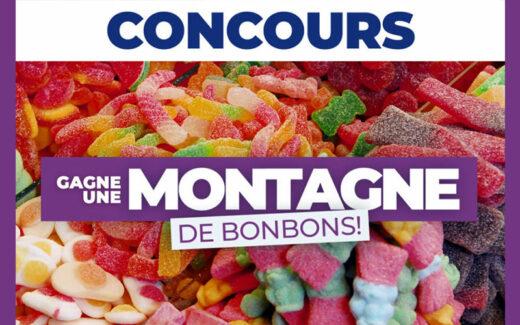 Une montagne de bonbons