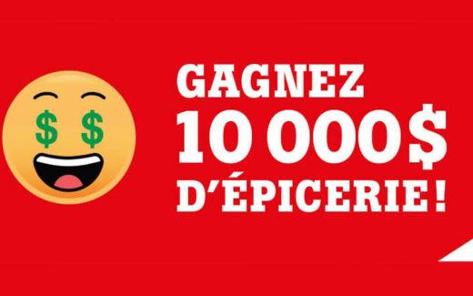 10 000 $ d'épicerie Chez Métro