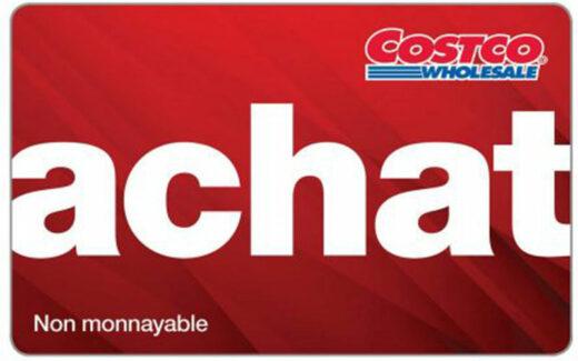 10 cartes Achat Costco de 100 $ chacune