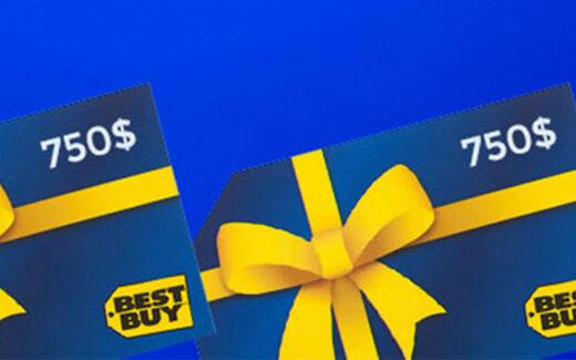 2 cartes-cadeaux Best Buy de 750 $