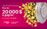 20 000 $ en argent au total