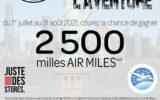 2500 milles Air Miles