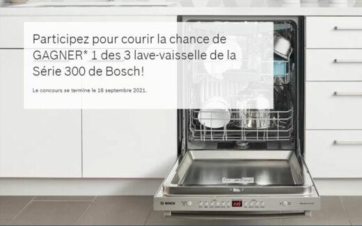 3 lave-vaisselle Bosch série 300 (1679 $ chacun)