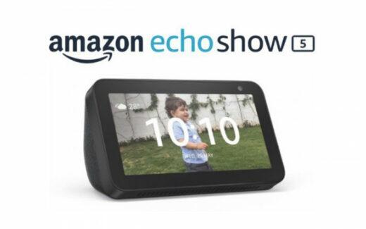 Un assistant vocal avec écran Echo Show 5 d'Amazon
